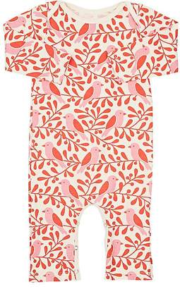 Factory Winter Water Birds & Berries Print Organic Cotton Coveralls