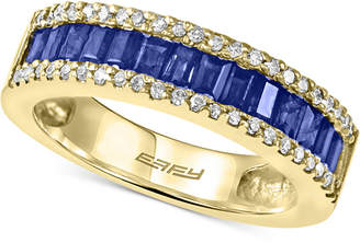 Effy Royale Bleu Sapphire (1 ct. t.w.) and Diamond (1/5 ct. t.w.) Ring in 14k Gold