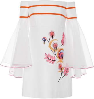 Carolina Herrera Off-The-Shoulder Mini Dress