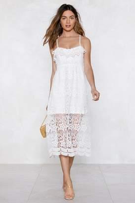 Nasty Gal It's Not Right But It's Crochet Midi Dress