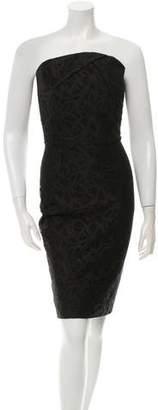 Roland Mouret Strapless Lace Dress