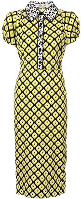 Diane von Furstenberg retro print dress