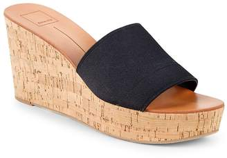 Dolce Vita Women's Barta Leopard Strap Wedge Sandals