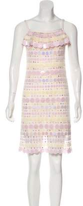Zac Posen Embellished Silk Dress