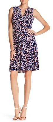 Leota Cassie Split Neck Printed Dress $118 thestylecure.com