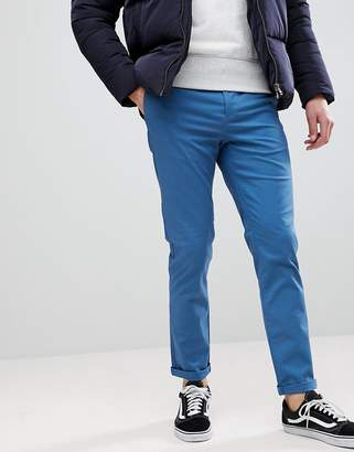 Asos Slim Chinos In Blue
