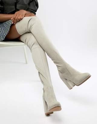 Asos DESIGN Kassidy heeled thigh high boots