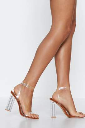 Nasty Gal Let's Be Clear Faux Suede Heel