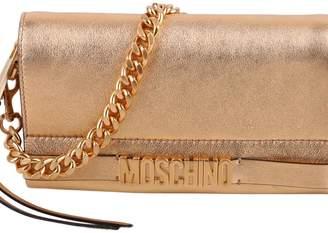 Moschino Metallic Leather Clutch