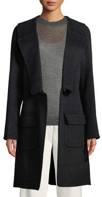 Leon Max Knee-Length Wool-Blend Coat