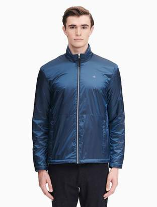 Calvin Klein nylon zip fleece windbreaker jacket