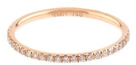Ileana Makri Diamond & Pink Gold Ring - Womens - Rose Gold