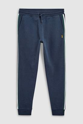 Next Mens Navy Side Taped Joggers