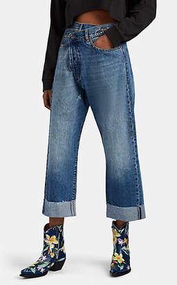 R 13 Women's Crossover Crop Jeans - Blue