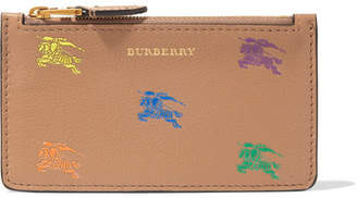 Burberry Printed Textured-leather Cardholder - Camel