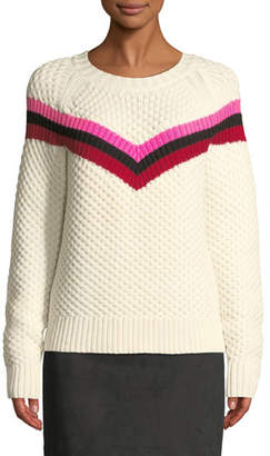 Milly Striped Wool Fisherman's Sweater