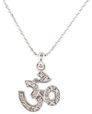 Sydney Evan 14K Diamond Om Pendant Necklace