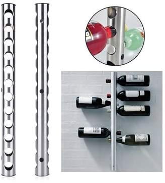 YSJX Wall Mounted Stainless Steel Hold 12 Bottles Wine Rack Bar Storage Organizer