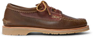 Yuketen Ghillie Textured-Leather Boat Shoes