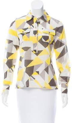 Tory Burch Geometric Button-Up Shirt