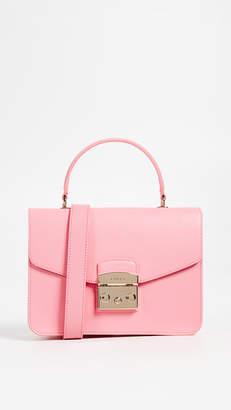 Fenice Small Top Handle Bag in Multicolour Cotton Furla GAluR7Zh