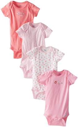 Gerber Baby-Girls Infant 4 Pack Variety Onesies Brand - Bird