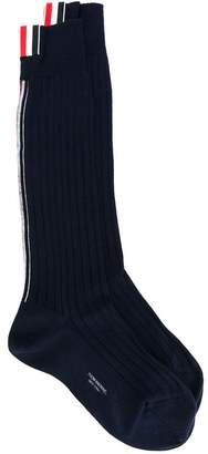 Thom Browne ribbed socks
