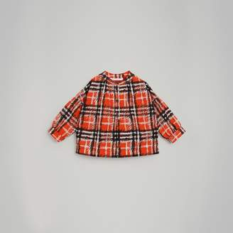 Burberry Childrens Scribble Check Print Cotton Shirt