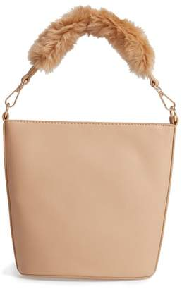 Leith Faux Fur Handle Medium Crossbody Bag