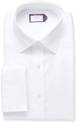 Lorenzo Uomo White French Cuff Stretch Regular Fit Dress Shirt