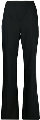 Talbot Runhof creased flared trousers