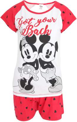 Disney Womens/Ladies Mouse Short Pyjamas
