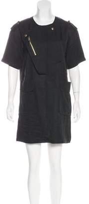 Thomas Wylde Short Sleeve Mini Dress