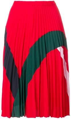 Iceberg colourblock pleated skirt