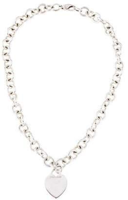 Tiffany & Co. Heart Tag Choker Necklace