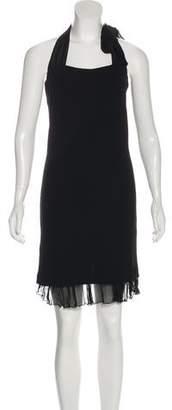 Jean Paul Gaultier Ruffle-Accented Halter Dress