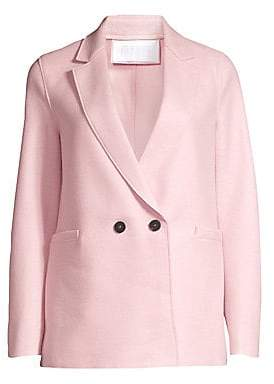 Harris Wharf London Women's Boxy Wool Blazer Coat