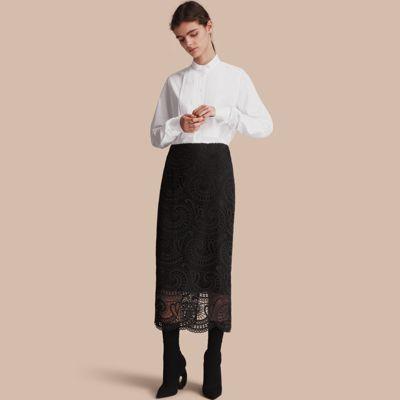 Burberry Macramé Lace Skirt