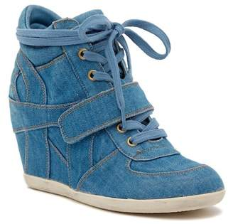 Ash Bowie Denim Wedge Sneaker