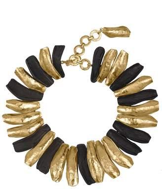 Natori Josie 24K Goldplated Brass With Darkwood Necklace