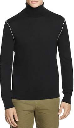 Helmut Lang Contrast-Seam Turtleneck Sweater