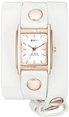 La Mer Wanderlust 00200 0.5mm Leather Synthetic White Watch Bracelet