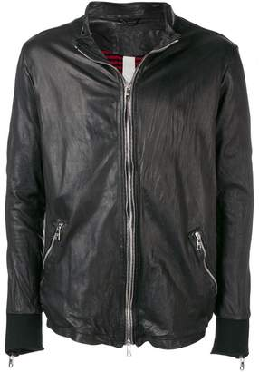 Giorgio Brato zip front leather jacket