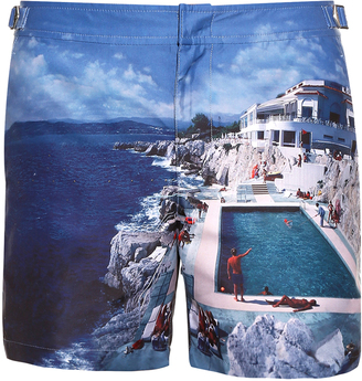 ORLEBAR BROWN Bulldog photographic-print swim shorts $280 thestylecure.com