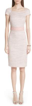 St. John Textural Micro Tweed Knit Dress