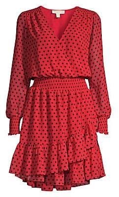 MICHAEL Michael Kors Women's Mod Dot Ruffle Dress