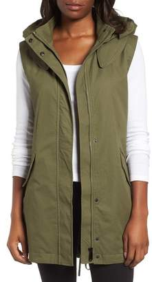 Sam Edelman Elongated Hooded Vest