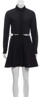 Alexander Wang Cutout Long Sleeve Mini Dress