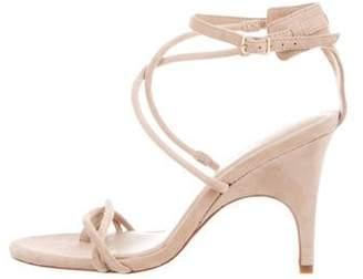 Halston Suede Wrap-Around Sandals