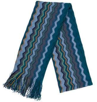 Missoni Wool & Silk Chevron Knit Scarf